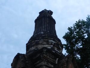 The crown of the stupa of Wat Khao Phra Bat Noi, Sukhothai, Thailand.
