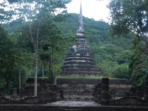 The Stupa of Wat Chedi Ngan, Sukhothai, Thailand.