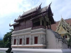 The ho trai in Wat Phra Singh, Chiang Mai, Thailand.