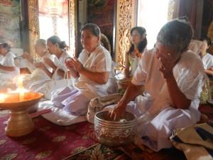 An afternoon service in Wat Mahathat, Luang Prabang, Laos.