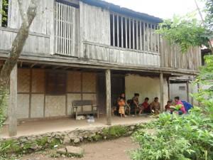 Village life in Laos.