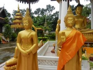 Buddha statues at Wat Si Saket, Vientiane, Laos