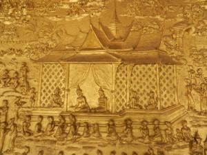 The frieze on Wat Mai, Luang Prabang, Laos.