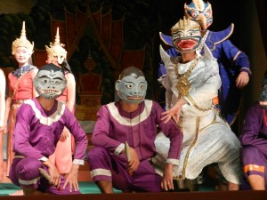 The Laotian version of the Ramayana in Luang Prabang, Laos.