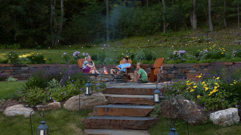 Goshen-firepit-in-a-June-garden