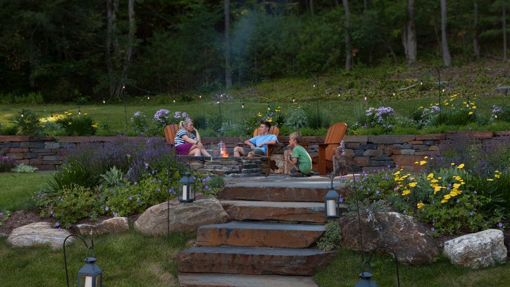 Goshen-firepit-in-a-June-garden