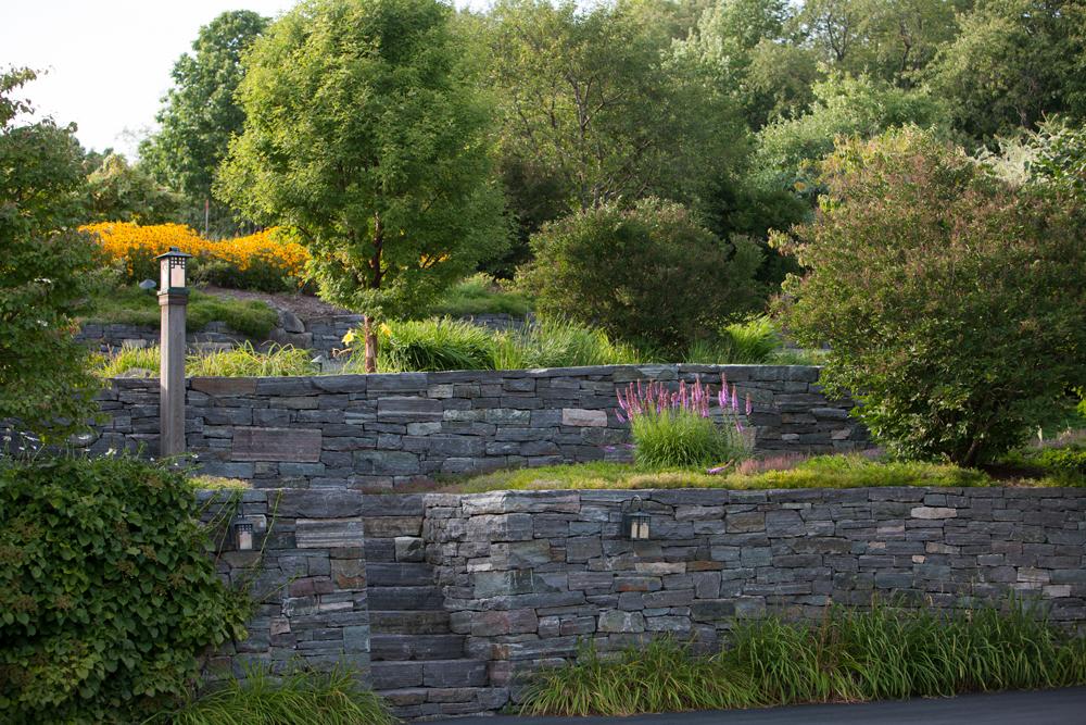 Granite-Steps,-retaining-wall,-July