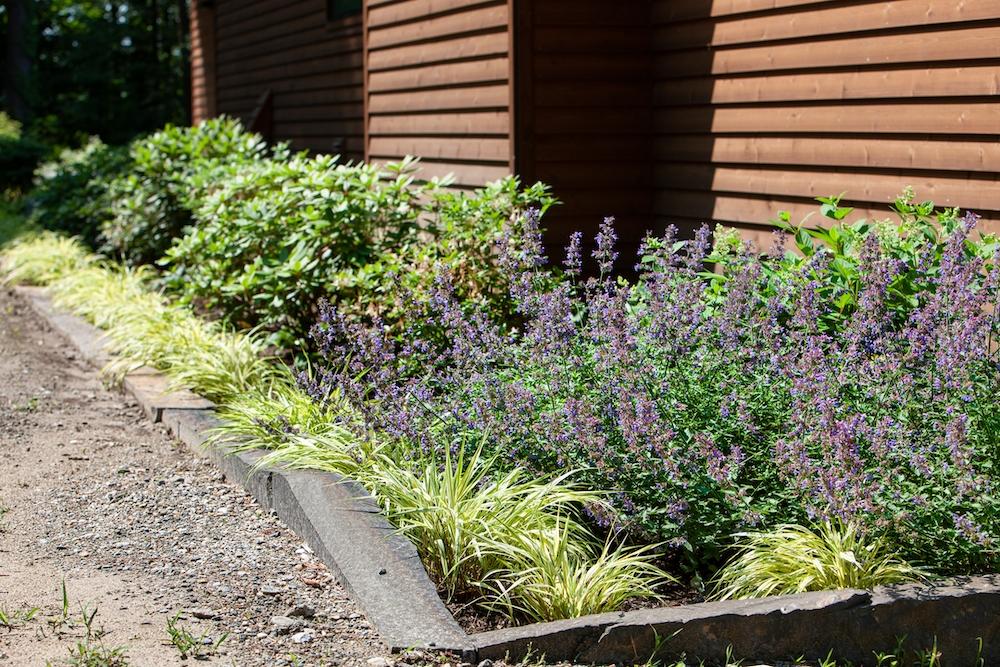Rebekah Lamphere – Stone Curbing, sunken garden