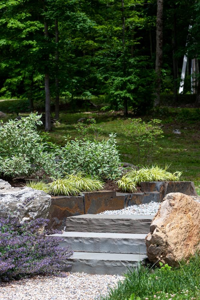 Rebekah Lamphere – Stone steps, natural curbing
