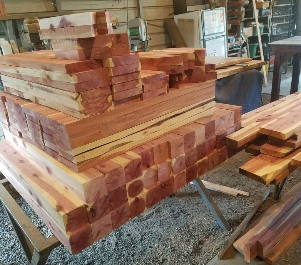 cedar lumber kiln dried