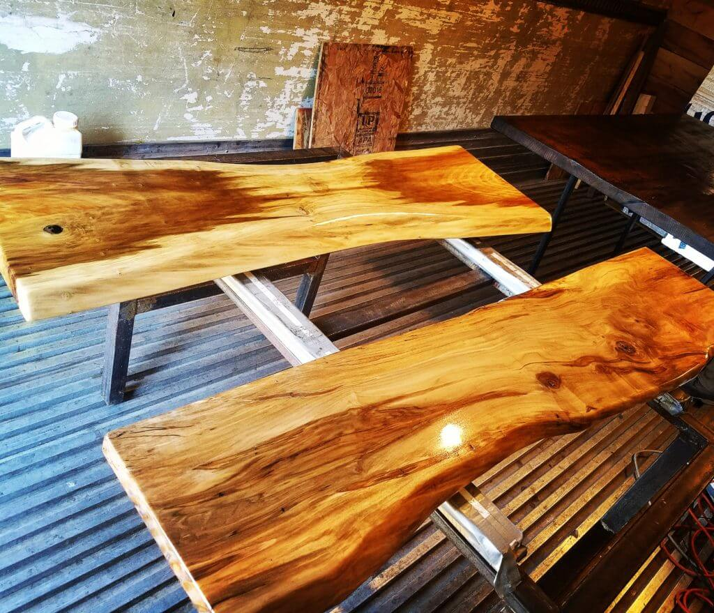 Live edge mantles and shelves