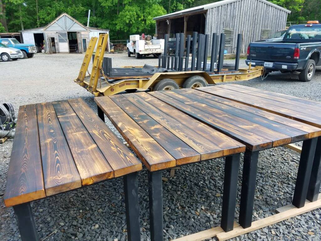 rustic brewery tables custom made