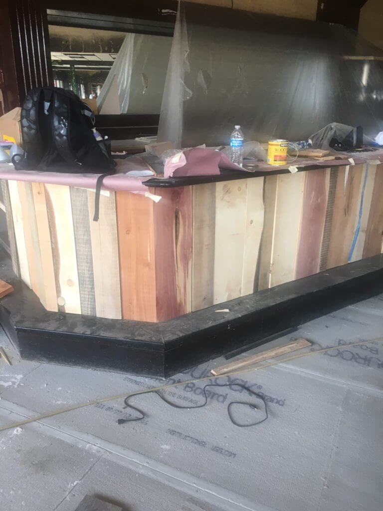 custom wood panel bar