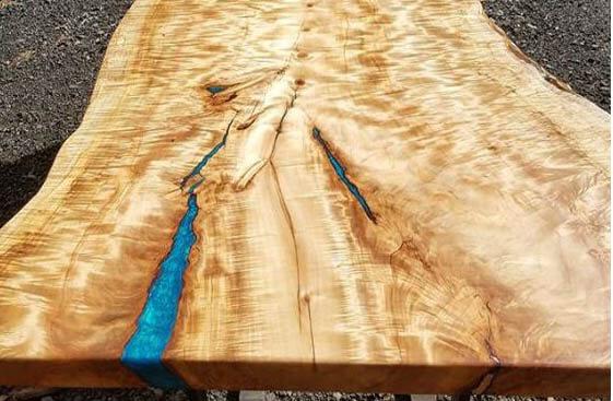 blue epoxy table
