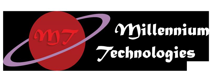 Millennium Technologies White Logo