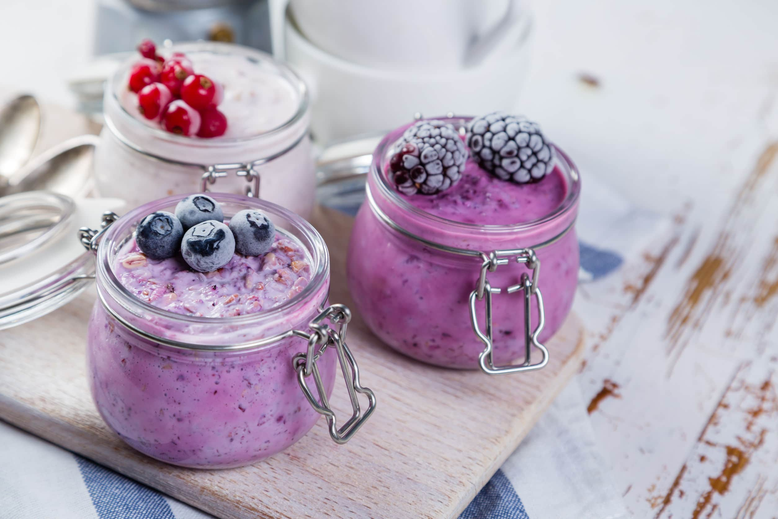 Overnight Blueberry Oats