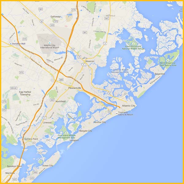 Wire Wiz Electrician Services   Service Area Map 2