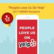 People Love Us on Yelp Award 2017