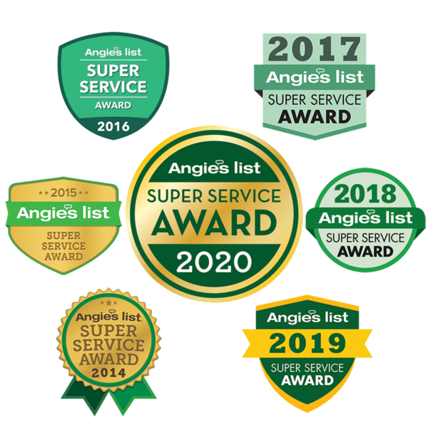 Angie's List Super Service Awards for 7 years