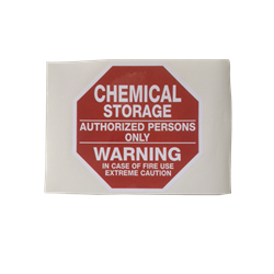 chemical storage sticker