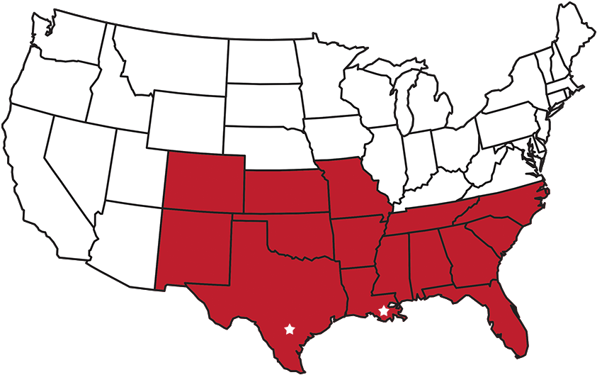 SBS Areas of Operation - United States Map