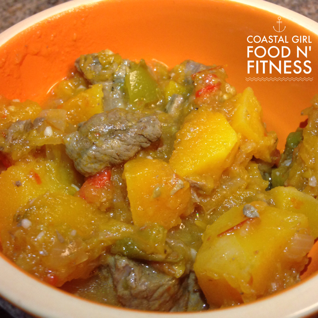 Beef and Butternut Squash Stew: A hearty stew that is healthy and satisfying!