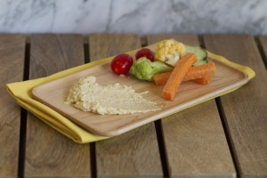 Vegetables and hummus a great 21 day fix snack