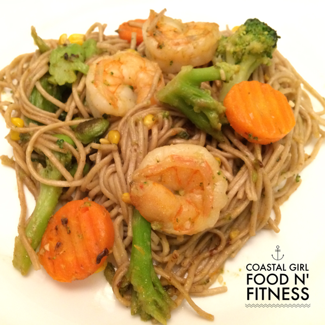 Super Quick Shrimp and Soba Noodles. A quick, nutritious dinner good enough for company!