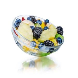 21 day fix lunch to go: fruit salad with plain greek yogurt or cottage cheese