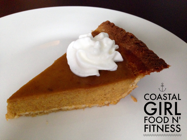 Cleaned-Up Pumpkin Pie: Thanksgiving is one holiday that I eat what I want! However you can make a few things healthier and pumpkin pie is one of those things! No wheat flour or white refined sugar in this pie!