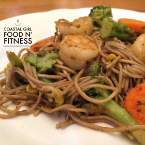 Shrimp and Soba Noodles Shrimp Bowl: A quick meal for busy families!