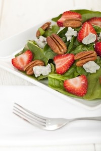 21 Day Fix Lunch to Go! Strawberry, goat cheese and pecan salad, Refreshing healthy lunch!
