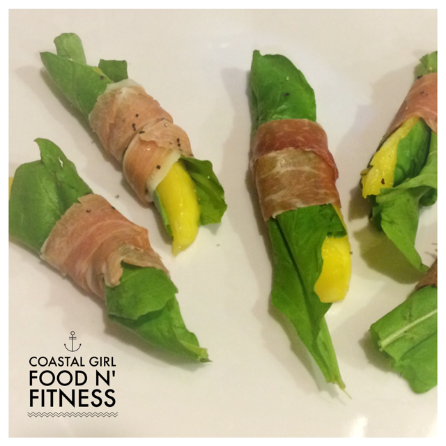 Need a healthy appetizer? Try these Mini Mango Prosciutto Wraps!
