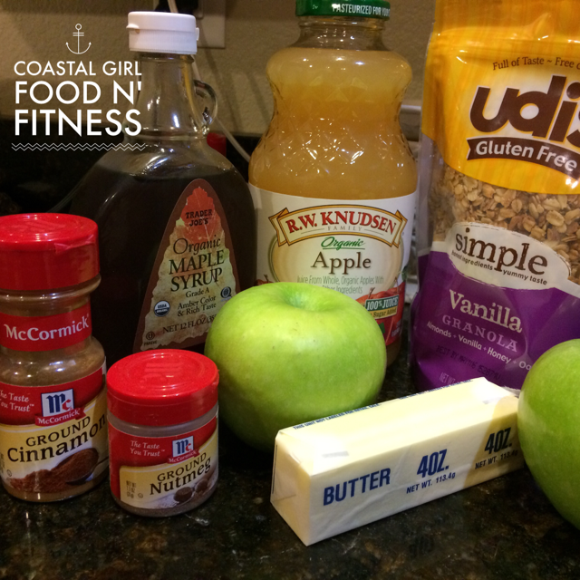 The Healthy Crock-Pot: Hot Apple Dump Dessert This apple filled dessert has the same flavors as apple pie without the guilt of a fattening crust. If you use gluten free granola it becomes a gluten free dessert.