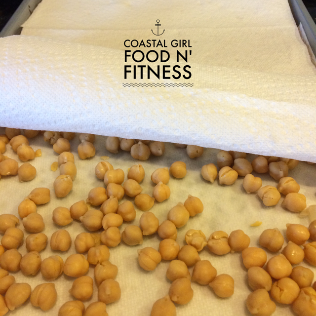 A 21 Day Fix Snack: Crunchy savory roasted chickpeas.