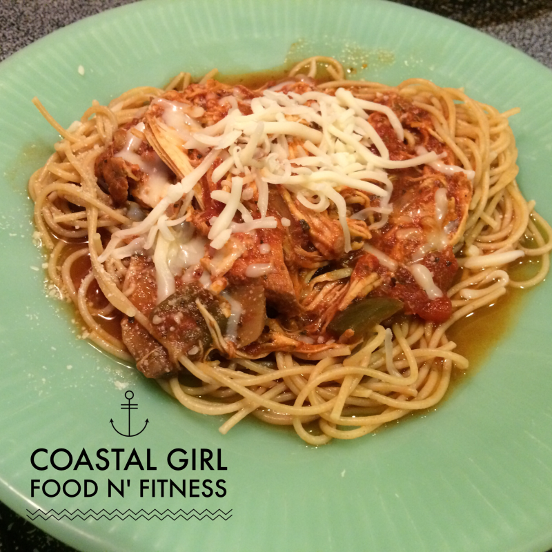 Healthy Crock-Pot Chicken Cacciatore! Italian goodness that fits right in with a healthy clean eating plan like the 21 Day Fix!