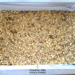 Pat the oat mixture firmly into the pan