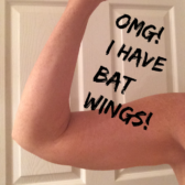 I am determined to tone my arms and help those bat wings be less of a wind force! They may never be completely jiggle free but I am determined to feel good in sleeveless shirts, dresses and in a bathing suit! And in doing so to improve my health and fitness by becoming stronger!