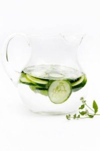 Drink more water! Try infusing it with fruits and veggies for more flavor