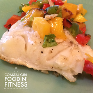 Grilled Peach and Mango Salsa! Fresh, fruity and healthy. Pairs perfectly with grilled fish, pork and chicken.
