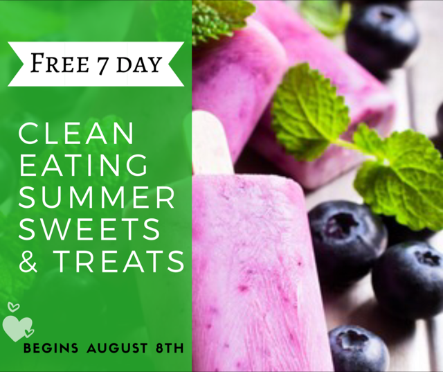 A FREE 7 Day Group to learn how to eat clean and healthy while still enjoying a treats and sweets!
