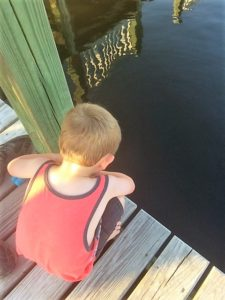 Lazy summer days crabbing off the dock