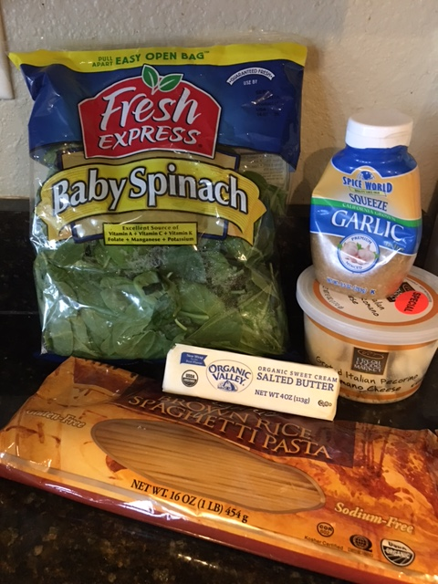 5 Ingredients for Healthy Spinach Parmesan pasta