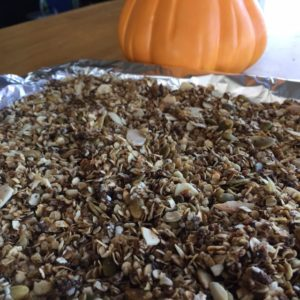 Skillet Pumpkin Granola! Quick easy and healthy!