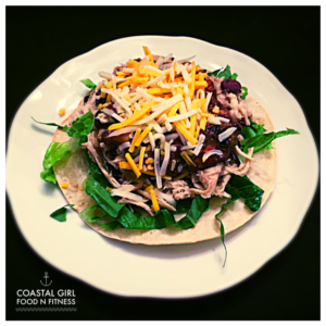 Black Bean and Chicken Tostadas! Quick, easy, healthy and FUN!