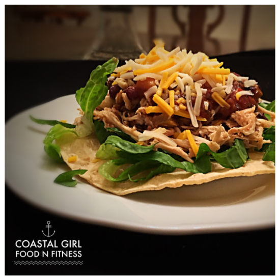 Black Bean and Chicken Tostadas! Quick, easy, clean, healthy and FUN!
