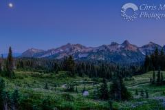 Moonrise over Tatoosh