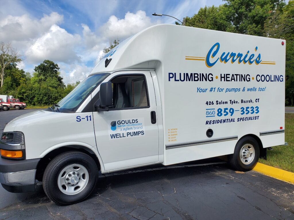 Curries-plumbing-heating-cooling contractor-truck-oakdale-CT