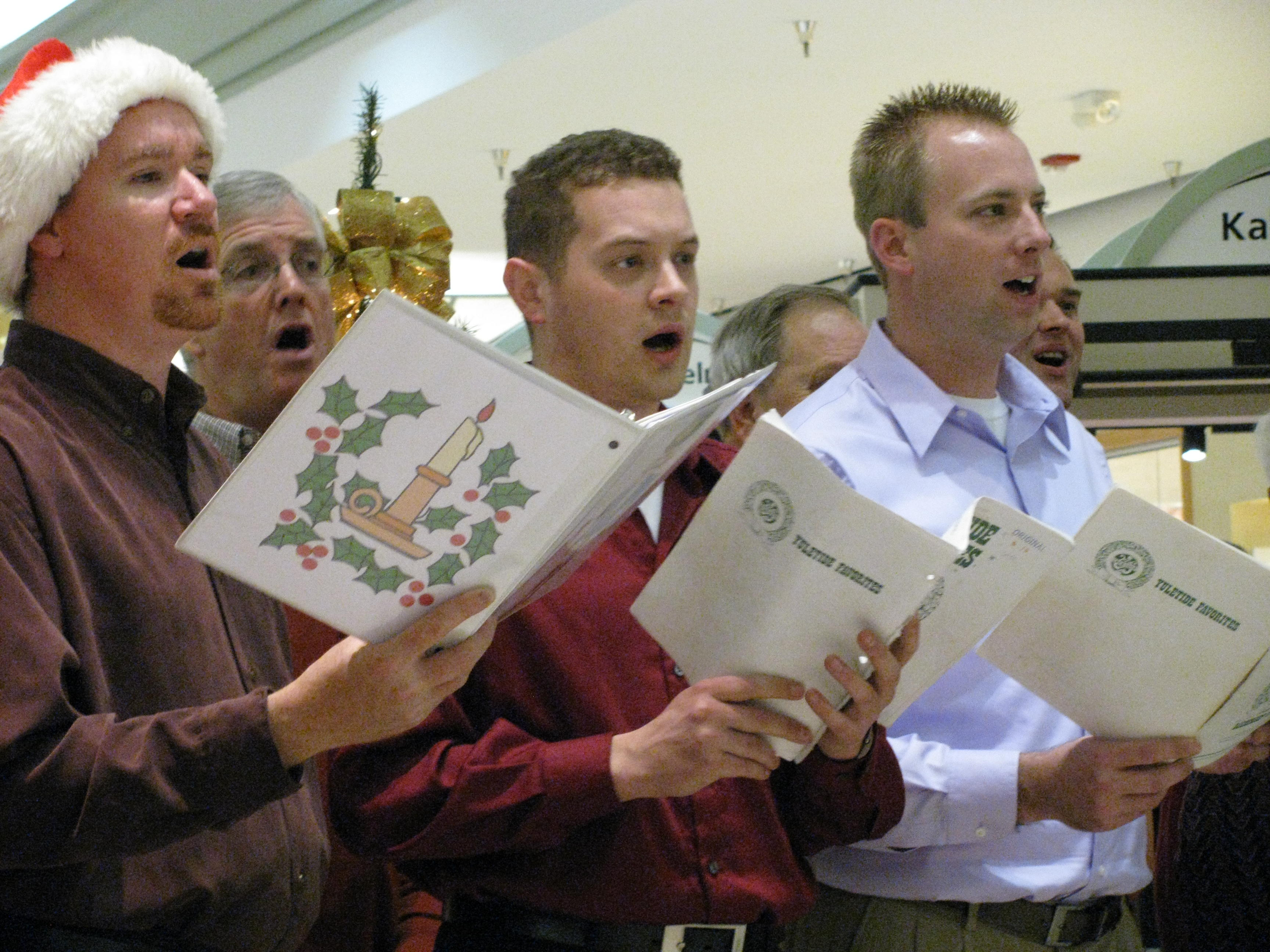 Each Christmas season the Hawks share holiday cheer with their seasonal songs.