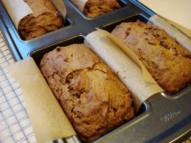 Gluten Free Pumpkin Bread loaves